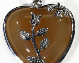 85cts Carnelian heart pendant PPP1211