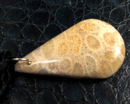 36 CTS CORAL FOSSIL GEMSTONE PENDANT GG 268
