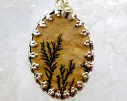 FERN LEAF FOSSIL PENDNAT16.20 CTS RT 878
