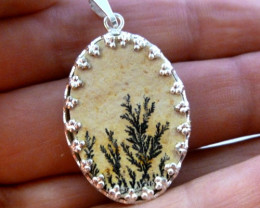 UNIQUE FERN LEAF FOSSIL PENDNAT 17.20 CTS RT 885