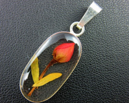 Amazing natural miniature flower in pendant GTJA 163