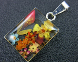 Amazing natural miniature flower in pendant GTJA 150