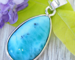 Beautiful natural Pendant Larimar from Caribbean SU687