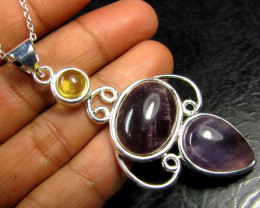 AMETHYST WITH CITRINE PENDANT RT 55