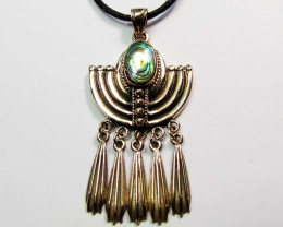 BRONZE MOTHER OF PEARL PENDANT RT 268