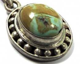 Ancient Turquoise pendant Nepal JGG 156