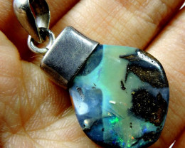 32.5 Cts Boudler Opal with Silver bale Pl 1110