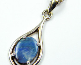 SOLID BOULDER OPAL SILVER PENDANT MYJA 1014