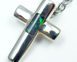 INLAY OPAL SILVER CROSS PENDANT MYJA 1020
