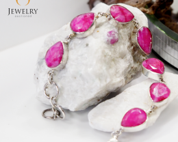 Stylish Ruby Bracelet ,sterling silver  MJA 788