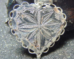 30x30 Crafted solid  silver pendent 20.55cts