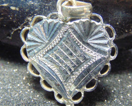 22x22 Crafted solid  silver pendent 13.00cts