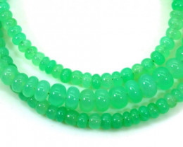 63.5CTSGemstone Necklace CHRYSOPRASE TBG-2460
