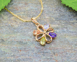 Multi-colour Rose gold Gold-Filled Pendant