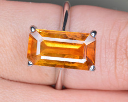 Natural Yellow Sapphire Silver Ring