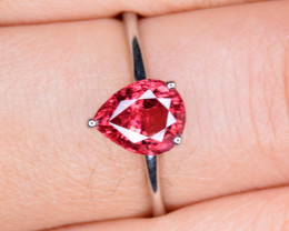 Natural Padparadscha Sapphire Silver Ring