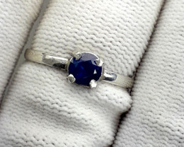 Natural Sapphire 925 Silver Ring.