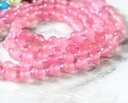Pink Rose Quartz Prayer Beads WS393
