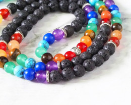Lava Beads with the Tree of Life Prayer Beads WS401