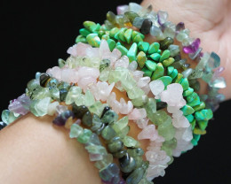 10 soft hues ,Beautiful Mixed Gemstone Bracelets  SU674 a