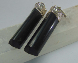 Black tourmaline ~ pendent  ~  silvers 59.15 cts