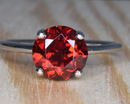 Natural Rhodolite Garnet Silver Ring