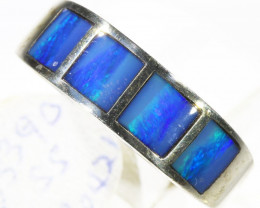 Inlay Opal set in silver CF 1672