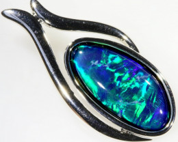 Stylish Triplet Opal Pendant in Sterling Silver SB 345