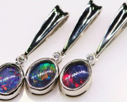 Three Cute Triplet Opal Pendants in Sterling silver SB 321