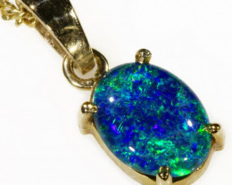 TRIPLET OPAL SET IN 9K YELLOW GOLD PENDANT TOP CF1023