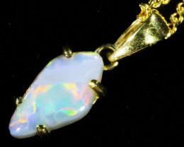 Fire Opal set in 18k Gold Pendant CF 1069