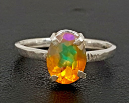 Natural opal 925 silver ring