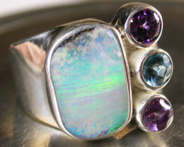 BOULDER/GEMSTONE RING SIZE 6.5 [SOJ671]