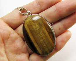 Bright Tiger r Eye Pendant MJA 364