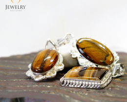 Three Tiger Eye Pendant for Price One MJA 439