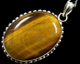111 CTS TIGER EYE PENDANT MGMG 358