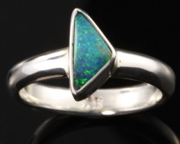 BOULDER OPAL RING--FACTORY DIRECT -RING SIZE 6.5 [SOJ1072]SH
