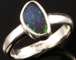 BOULDER OPAL RING--FACTORY DIRECT -RING SIZE 6.5 [SOJ1075]