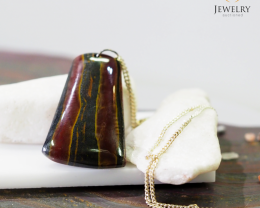 s large Tiger eye Pendant MJA 918