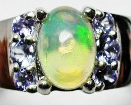 7 RING SIZE STUNNING TANZANITE WELO OPAL RING [SOJ2236]