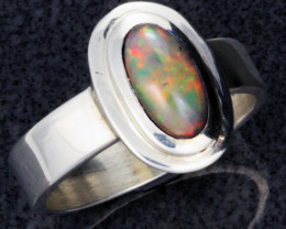 Auction #304233 FIREY WELO OPAL SILVER RING. RING SIZE 8.5 [SOJ1096]