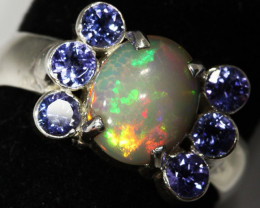 9.5 SIZE STUNNING WELO WITH 6 TANZANITES FACTORY [SOJ3154]