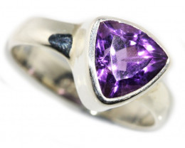 8 SIZE AMETHYST RING SILVER FACTORY DIRECT [SJ3115]