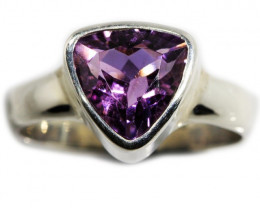 6.5 SIZE AMETHYST RING SILVER FACTORY DIRECT [SJ3107]