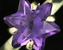 9 SIZE STAR AMETHYST RING -FACTORY DIRECT [SJ4707]