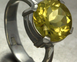 9 RING SIZE YELLOW MYSTIC QUARTZ SILVER [SJ2369]SH