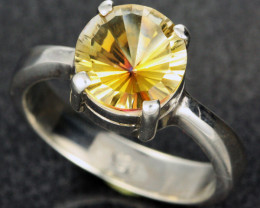 GOLDEN MYSTIC QUARTZ RING SIZE 7.5 FACTORY DIRECT [SJ2151]