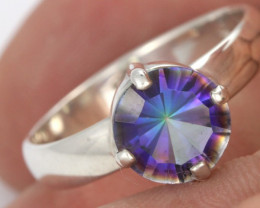 RING SIZE MYSTIC QUARTZ SILVER -FACTORY DIRECT [SJ4215]