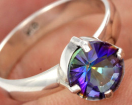RING SIZE MYSTIC QUARTZ SILVER -FACTORY DIRECT [SJ4213]