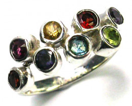 ASSORTED GEM STONE 6 RING SIZE 12.00 CTS [SJ1205]